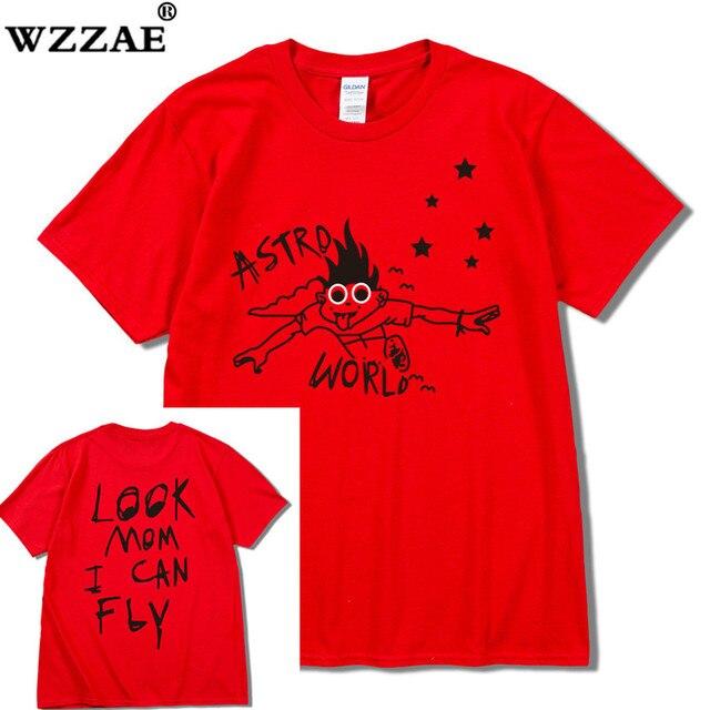 Travis Scott Astroworld T shirt men women hip hop rap look mom i can fly
