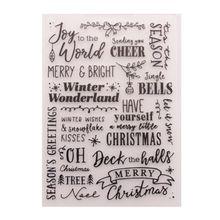 Пластиковая папка с тиснением шаблон DIY скрапбук фотоальбом открытка с Рождеством