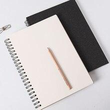 1 pçs sketchbook para desenho pintura preto memorando presente suprimentos de papel graffiti livro escritório capa macia caderno esboço livro diário