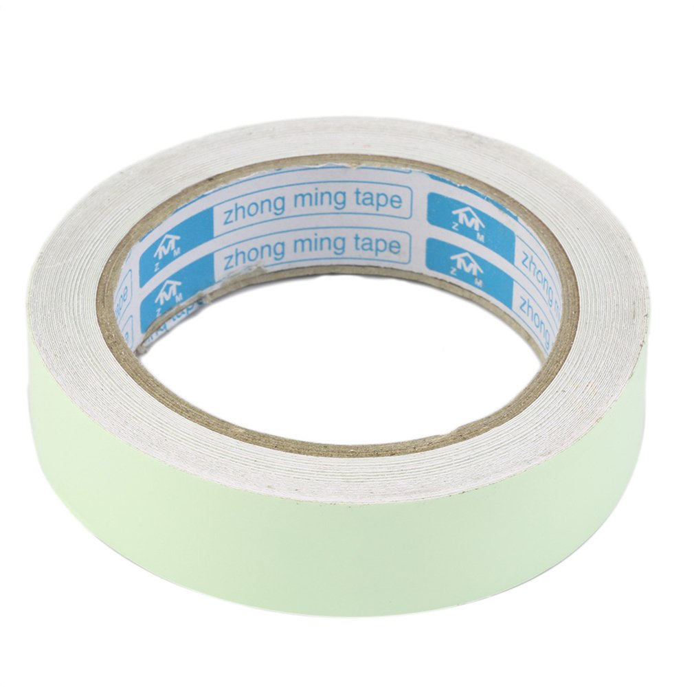 White 10M 20mm 25mm Luminous Tape Self-adhesive Glow In Dark Safety Home Decorations Night Vision Security Bright Warning Labels