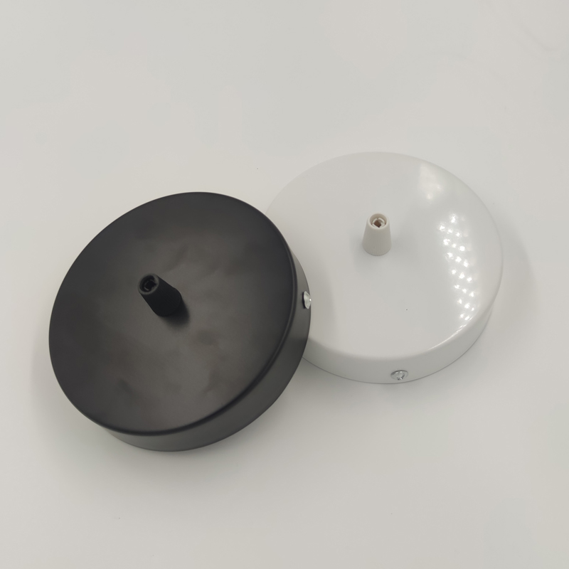 Ceiling Plate Round 8/10/12cm Black/White Lighting Accessories For Pendant Lamp Wall Lamp Ceiling Lamp DIY +Lock Wire Lamp Base