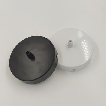 Płyta sufitowa okrągły 8 10 12cm czarny białe oświetlenie akcesoria dla lampa wisząca lampa ścienna lampa sufitowa DIY + przewód blokady podstawa lampy tanie i dobre opinie ZHB stcfies CN (pochodzenie) Podstawy lampy 5 years Ceiling Plate 10cm iron Round Black White