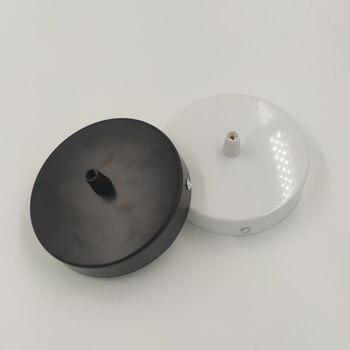 Placa de techo redonda de 8/10/12cm, accesorios de iluminación en blanco y...