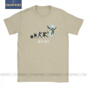 Image 1 - Seiya Evolution camisetas para caballeros del zodiaco, camisetas de manga corta de Anime de los 90, 100% de algodón de talla grande