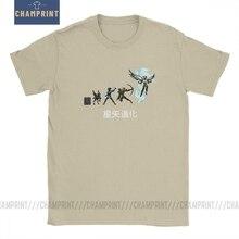 Seiya אבולוציה גברים T חולצות אבירי של גלגל המזלות Saint Seiya 90s אנימה מדהים Tees קצר שרוול חולצה 100% כותנה בתוספת גודל