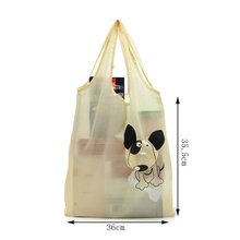 Tote Supermarket Environmental-Protection Foldable Polyester Creative Cartoon Puppy