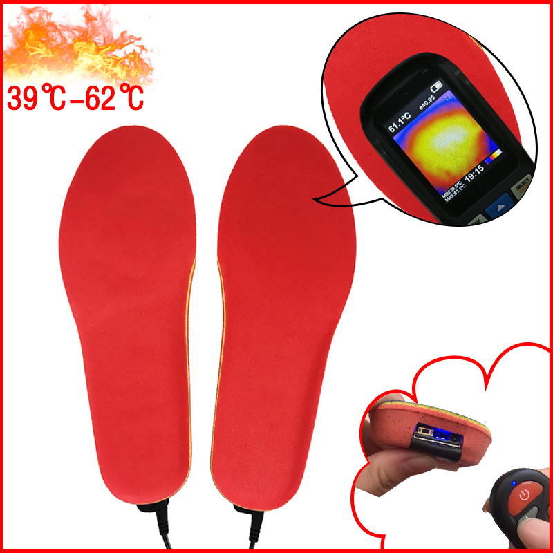 Image 3 - NEW Heated Insoles with Wireless Remote Control Battery Powered for Men and Women Winter Thermal Heating Insoles EUR Size 41 46-in Insoles from Shoes