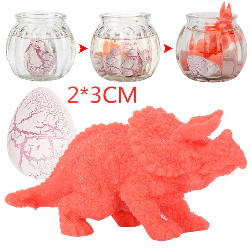 6Pcs חמוד קסם גידול בקיעת ביצי דינוזאור להוסיף מים גידול דינוזאור חידוש Gag עבור ילד ילדים חינוכיים צעצועי מתנות