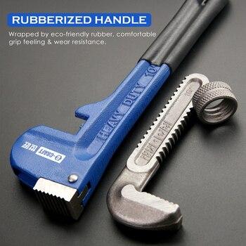 KALAIDUN Plumbing Pliers Pipe Wrench Industrial Heavy Duty Adjustable Anti-Corrosion Rust Large Open Spanner Plumber Repair Tool 5