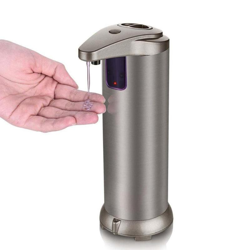 280ML Hand Sanitizer Automatic Fluid Soap Dispenser Stainless Steel Sensor Soap Dispenser Pump Shower Soap Bottle For Bath Ect