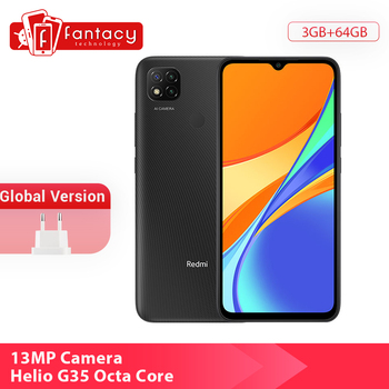 New Global Version Xiaomi Redmi 9C 9 C Cellphone 3GB RAM 64GB ROM 13MP Triple Cameras Helio G25 Octa Core 5000mAh 6.53