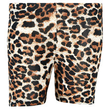 Zecmos Fashion Leopard Shorts Women's Base Shorts Fitness Shorts Women's Casual Skinny Stretch Shorts