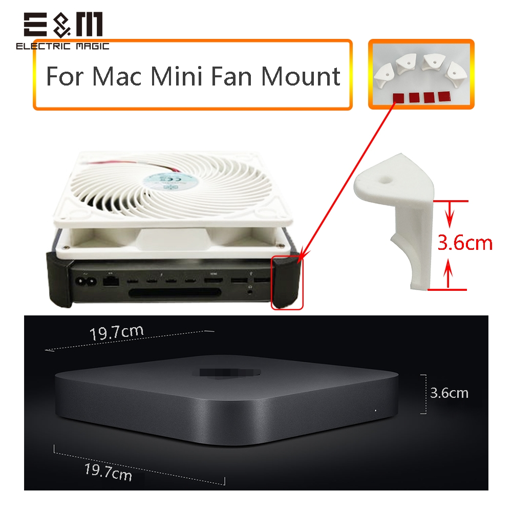 Full Set Dock 3D Printer Stand For Apple Mac Mini 2018 Cooling Fan Heat Sink Rdiator Mount Frame
