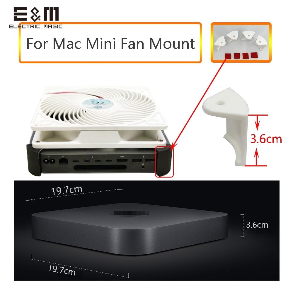 Full Set Dock 3D Printer Stand For Apple Mac Mini 2018 Cooling Fan Heat Sink Rdiator Mount Frame