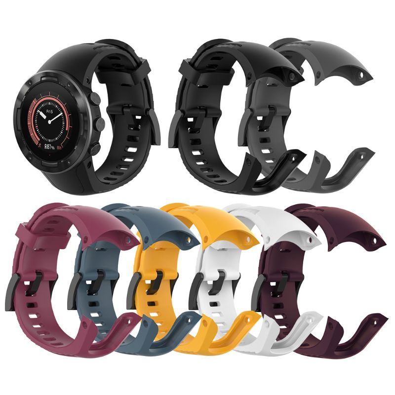 Watch With Silicone Strap Fitness Strap For Suunto 5 Adjustable Strap Strap