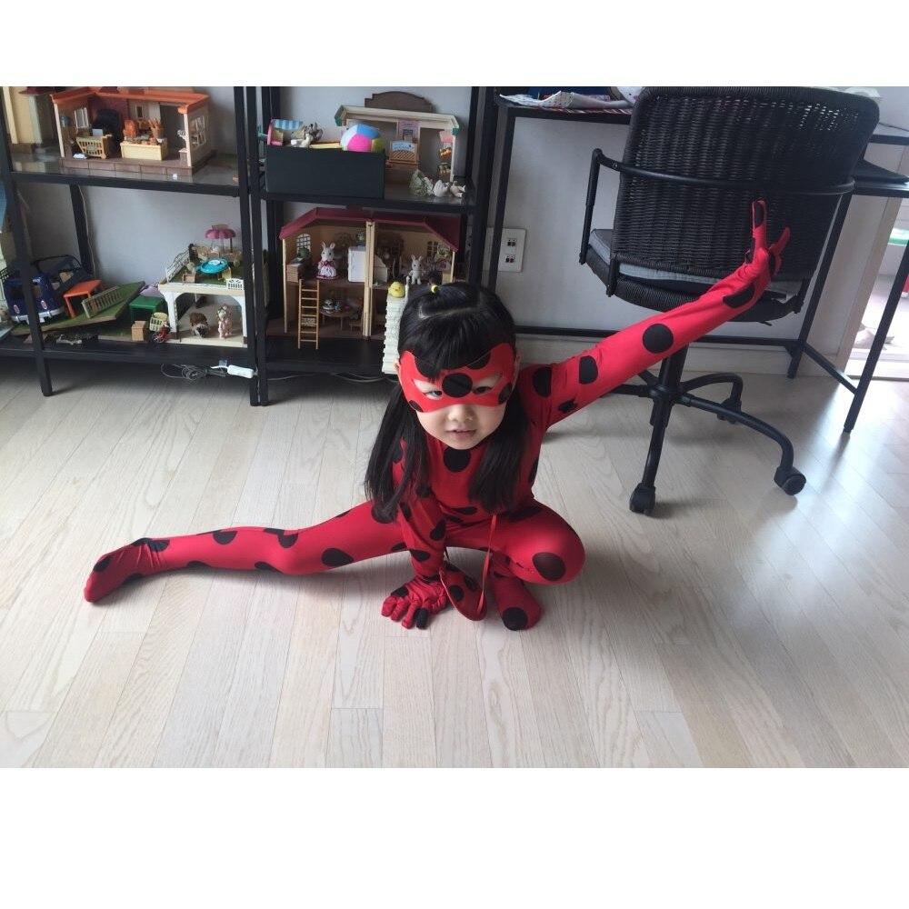 Fantaisie enfants adulte dame Bug Costumes filles femmes enfant Spandex coccinelle Costume combinaison fantaisie Halloween Cosplay Marinette perruque