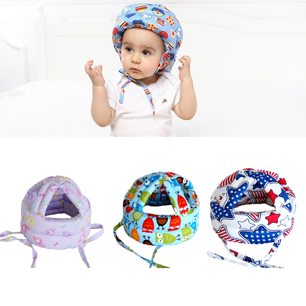 Baby Hat Safety Helmet Cotton Adjustable Baby Protective Helmet For Learn To Walk Kids Children's Protective Cap For Boys Girls