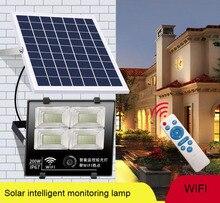 Solar intelligent monitoring lamp WIFI body induction radar sensors Energy saving save electricity freeshipping