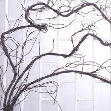 300ซม.ประดิษฐ์ต้นไม้ปลอมพืชจริงTouchสาขาLianaแขวนผนังหวายพลาสติกยืดหยุ่นVinesดอกไม้งานแต่งงานตกแต่ง