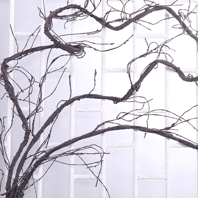 300cm מלאכותי עץ מזויף צמחים אמיתי מגע סניפים ליאנה קיר תליית קש פלסטיק גמיש פרח גפנים חתונת קישוט