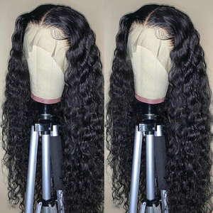 Aircabin Water Wave HD Lace Wigs 30 Inch 13x6 Type T Transparent Lace Wig Glueless Brazilian Remy Human Hair Wigs For Women(China)