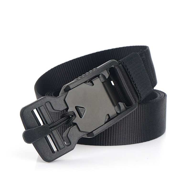 AIRGRACIAS Tactical Belt High Quality Nylon Men Training Belts For Men Magnet Buckle Outdoor Sports Belt 125cm