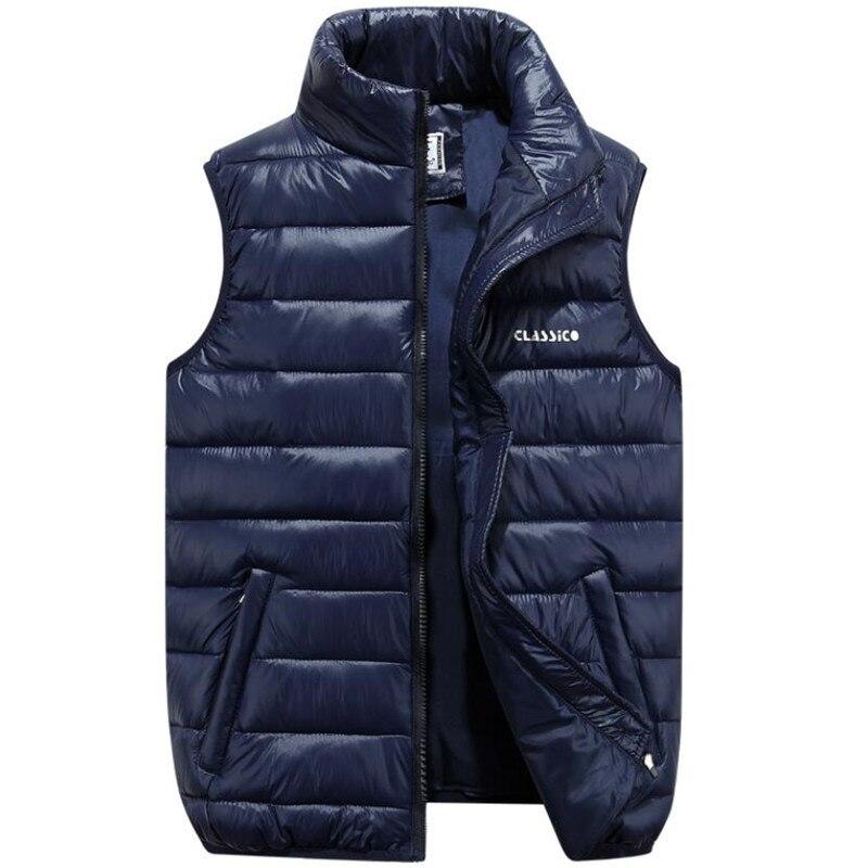 Nice Autumn Winter Casual Vest Men Ultralight Sleeveless Jacket Outwear Male Waistcoat Jacket Warm Down Vest Coat Plus Size 7XL