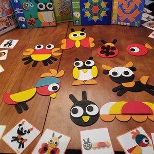 Image 3 - Juguetes tangram rompecabezas de animales 3d juguetes de madera para niños juegos creativos rompecabezas de Aprendizaje Temprano juguetes educativos