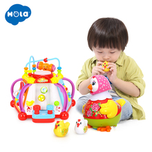 лучшая цена HOLA 806 and 6102 Baby Toys Musical Activity Cube Toy Learning Educational Game Play Center Toy with Lights & Sounds Toys