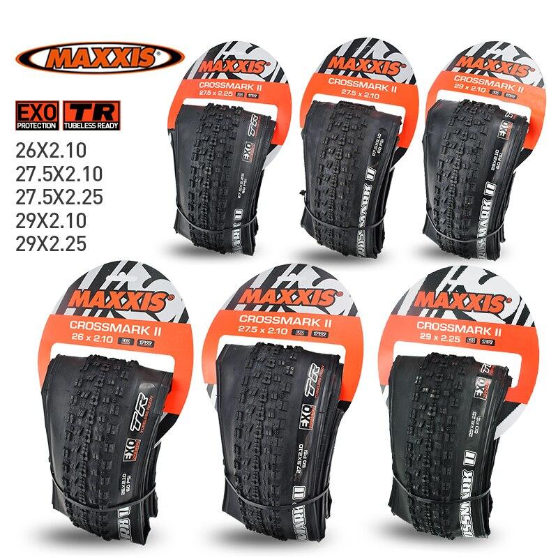 Бескамерные шины MAXXIS CrossMark II для горных велосипедов, 26x2,1 1/2x1/2.25 29x2.. 25, складная шина EXO Protection TR, Гонки XC