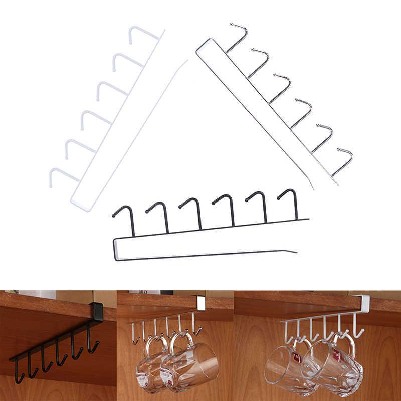 Eisen Küche Bad Organizer Lagerung Regal Multi-funktionale Schrank Hängen Haken Regale Für Handtuch Brust Tasse Abtropffläche Halter