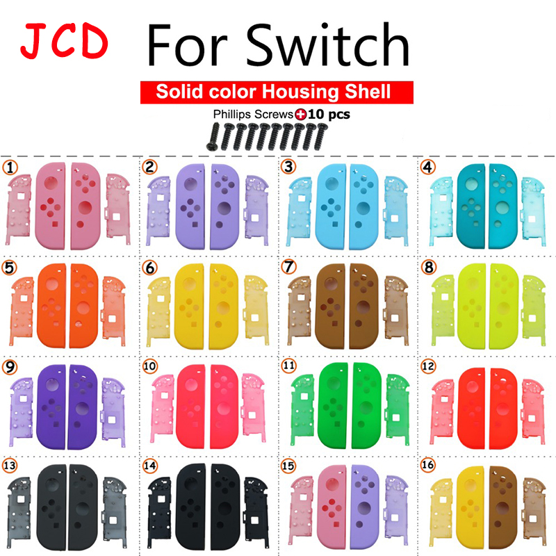 JCD DIY Plastic Replacement for Joy-Con Repair Kit Case Cover Housing Shell for Nintend for Switch Controller screws