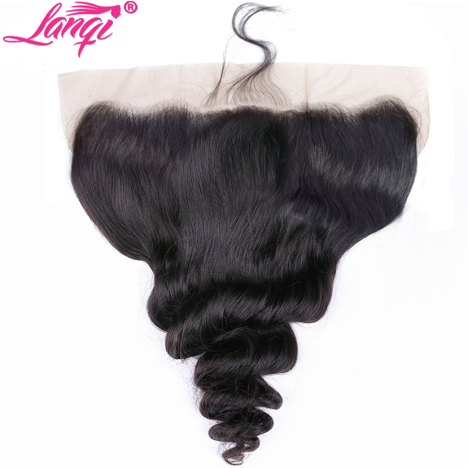 Image 5 - Brazilian loose wave bundles with frontal human hair weave frontal with bundles non remy hair bundles with lace frontal closure-in 3/4 Bundles with Closure from Hair Extensions & Wigs