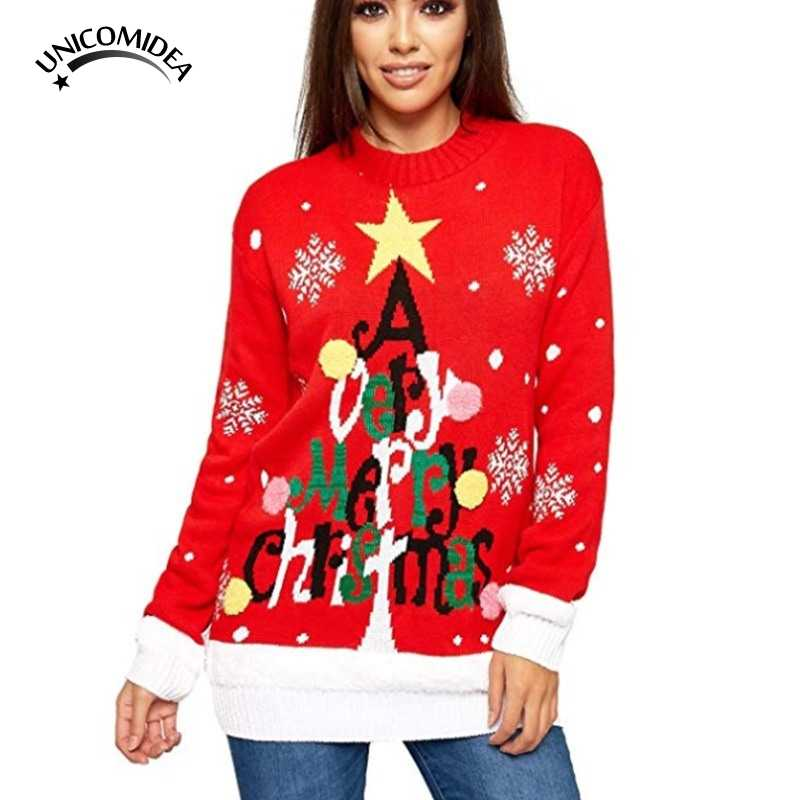 Light-up Knitted Ugly Jumper Snowman Deer Sweaters Santa Claus Xmas Patterned Christmas Sweaters Tops Men Women Pullovers