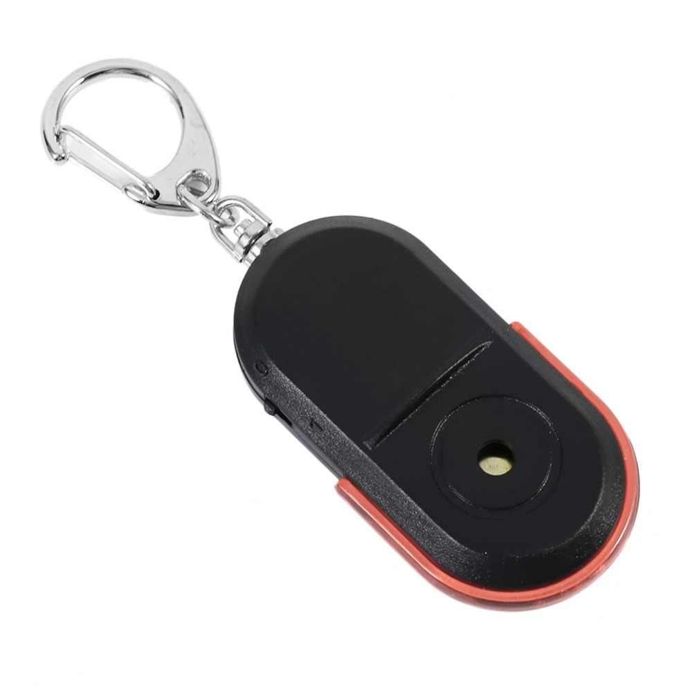 Tamanho portátil Idosos Alarme Anti-Perdido Localizador Chave Sem Fio Útil Som de Apito Locator Localizador Keychain do DIODO EMISSOR de Luz