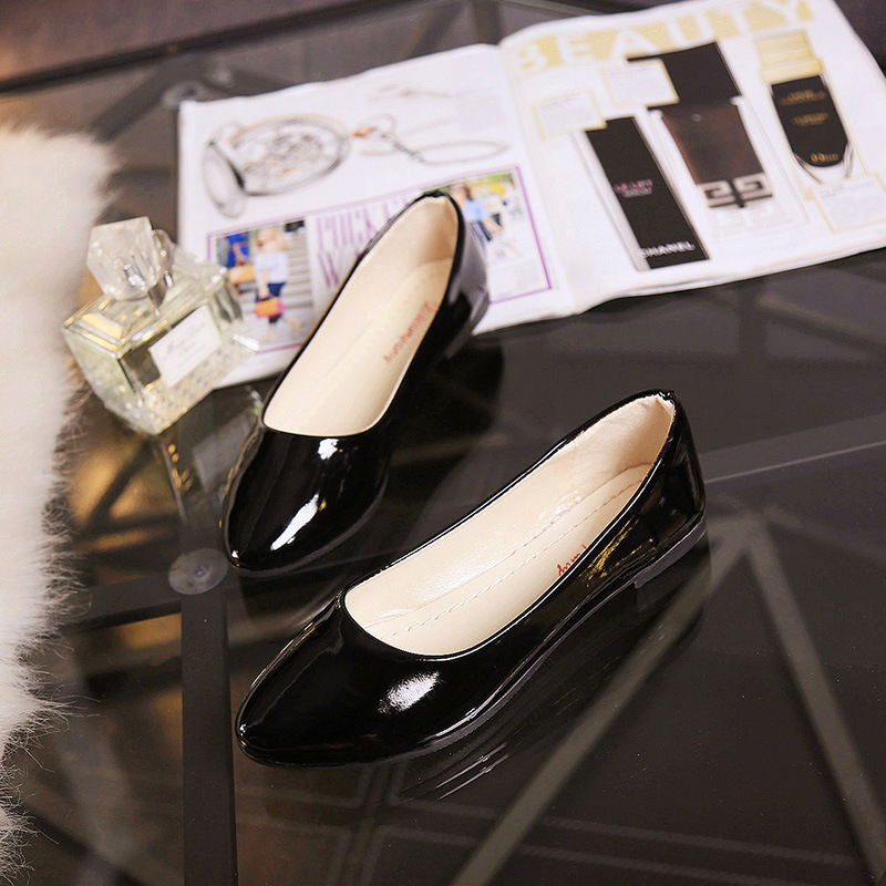 Autumn Slip Shoes Casual Suede Womens Loafers Single Pumps Flats Ballerina On
