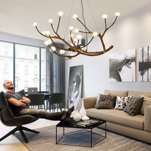 Nordic branch restaurant chandelier creative personality living room light Vintage luminarias lustre Industriel Hanging Lights