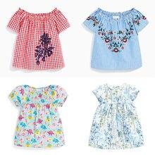 2020 летние футболки для девочек хлопковая футболка с коротким