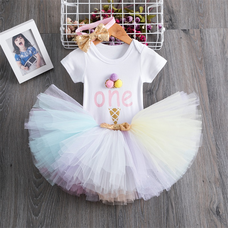 1 rok sukienka urodzinowa dziewczynka spódnica tutu sukienka mała sukienka syrenka Up Girls stroje maluch odzież dla niemowląt prezent na boże narodzenie