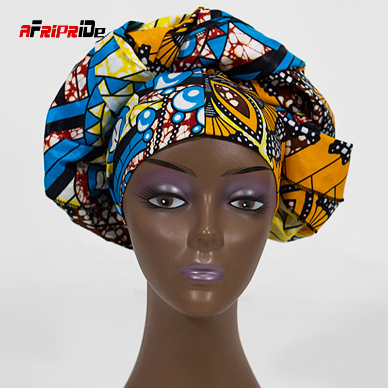 2020 African Cotton Print Head Wrap Long 70
