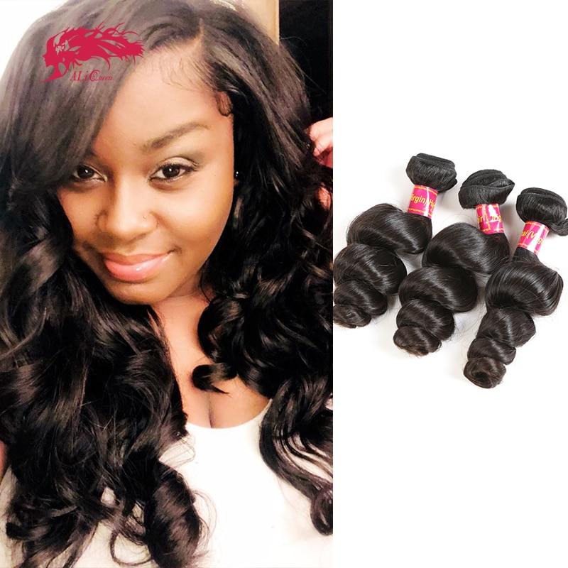 Волнистые бразильские необработанные волосы Ali Queen для черных женщин, естественный цвет, двойной рисунок