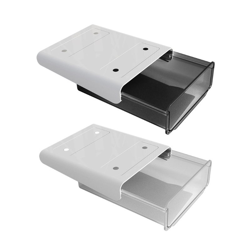 2021 New Self-Adhesive Under Desk Drawer Slide-Out Office Hidden Stationery Organizers Table Storage Box Pencil Tray Holder