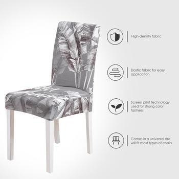 Fundas elásticas para sillas de comedor, cubierta spandex para asiento y hogar,...