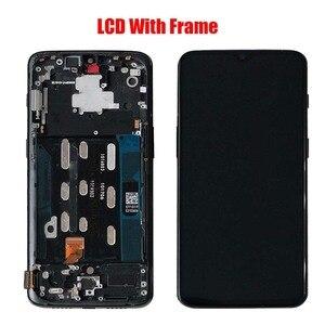 Image 3 - Cho OnePlus 6T AMOLED Ban Đầu Màn Hình LCD Màn Hình Và Ốp Mặt Trước Màu Đen Mờ Sáng Đen Free Dụng Cụ Sửa Chữa Và cường Lực Phim