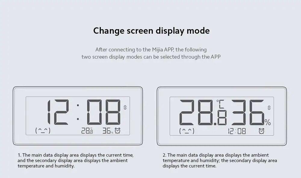 Original MiaoMiaoCe E-Link INK LCD Screen Digital clock Moisture Meter BT4.0 High-Precision Thermometer Temperature Humidity Sensor (8)