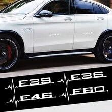 2 Teile/satz Auto Körper Abzeichen Aufkleber E36 E39 E46 E60 Emblem Auto Turnk Fender Dekoration für BMW M Peroformance E83 x1 X2 X3 X4 X5 X6