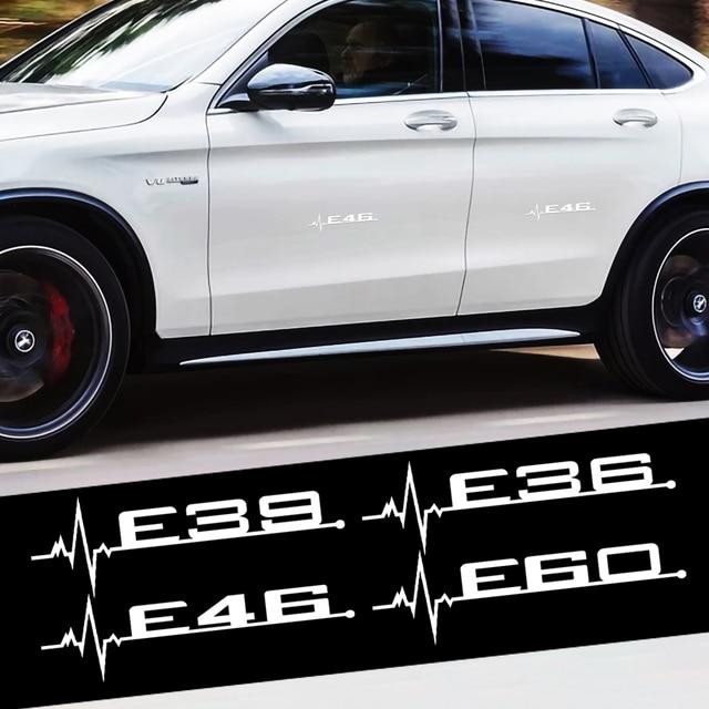 2Pcs/Set Car Body Badge Sticker E36 E39 E46 E60 Emblem Auto Turnk Fender Decoration for BMW M Peroformance E83 X1 X2 X3 X4 X5 X6