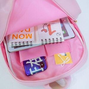 Image 4 - Ita Bag Backpack Clear Transparent Women Diy Bag Ladies Transparent Backpack Teenage Girls Lovely Lolita bag Itabag 7 colors
