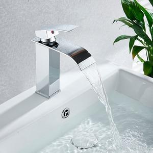 Image 3 - Robinets de mélangeur de lavabo montés sur le pont, mitigeur dévier de salle de bains robinets deau chaude et froide robinet de lavage à une poignée robinets dévier Torneira