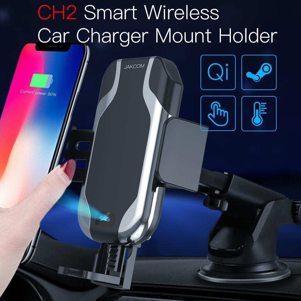 JAKCOM CH2 Smart Wireless Car Charger Holder Hot Sale In Mobile Phone Holders Stands As Cellphone Holder Qi Gsm Houder Voor Auto